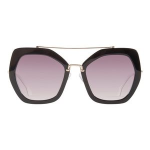 Alice + Olivia Bowery Sunglasses in Black White